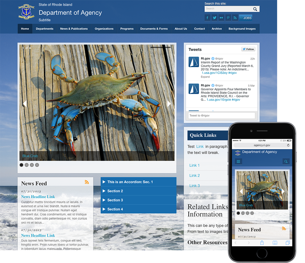 RI.gov Agency Website Template - 2013